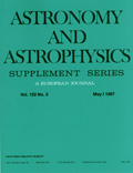 Astronomy and Astrophysics Supplement Series Cover page